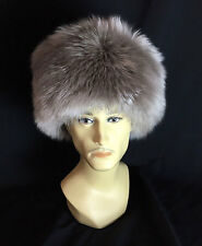 UZBEK TURKMEN CAUCASUS TRADITIONAL LONG FUR HAT-TELPAK, PAPAHA GRAY COLOR #7001