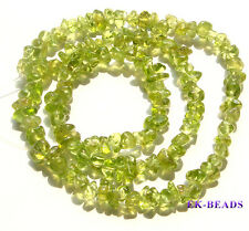 High Quality Natural Olive Peridot Nugget Chip Loose Beads 3x6mm Wholesale