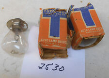 Lot of 3 Vintage NOS Tung-Sol 2530 Motorcyle Car Truck 6-8 Volt Headlight Bulbs