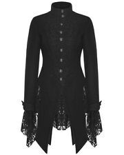 Punk Rave Womens Jacket Coat Black Winter Gothic Steampunk VTG Lace Victorian
