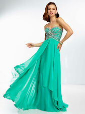 Sexy Strapless Mint or Blue Long Chiffon Evening Gown/Prom Dress Paparazzi 95064