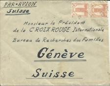 French Morocco Sc#194(x2) FES 1947 from a FRENCH LEGIONAIRE, see reverse