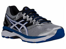 NEW MENS ASICS GT-2000 V4 GEL RUNNING SHOES TRAINERS SILVER / WHITE / ROYAL