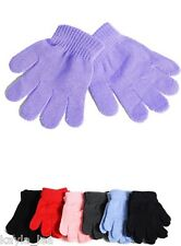 Children's Acrylic Sweater Knit Gloves/Hand Warmers Pink Black Navy OS