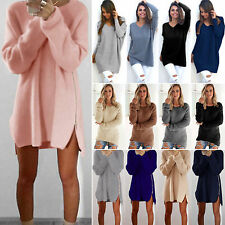 Womens Long Sleeve Pullover Sweater Dress Shirt Ladies Loose Blouse Jumper Tops