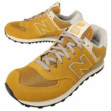 New Balance ML574VMU D Yellow Suede Grey Mens Running Shoes Sneakers ML574VMUD