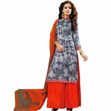 Bollywood Tie Dye Salwar Kameez with Palazzo Pants- Embroidered-Cocktail-1503