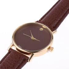 Luxury Men's Fashion Analog Quartz Wrist Watch Watches Leather Stainless Steel