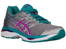 NEW WOMENS ASICS GEL-CUMULUS 18 RUNNING SHOES TRAINERS SILVER / PINK GLOW / LAPI