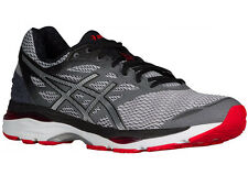 NEW MENS ASICS GEL-CUMULUS 18 RUNNING SHOES TRAINERS CARBON / SILVER / VERMILLIO