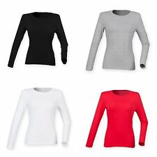 Skinni Fit Womens/Ladies Feel Good Stretch Long Sleeve T-Shirt