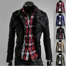 Men's Fashion Casual Jacket Coat Slim Fit Clothes Winter Warm Overcoat Outerwear