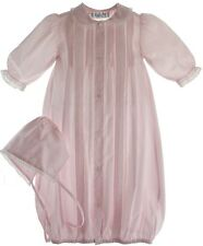 Newborn Girls Pink Take Home Gown Bonnet Set Lace Trim Feltman Brothers Baby