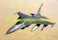 US Air Force F-16 Fighting Falcon Block 40 Aircraft Military Photo Print USAF
