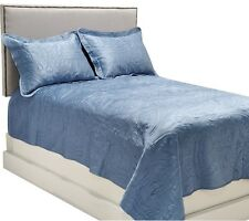 Dennis Basso King Matte Satin Coverlet and Shams Set Quilted CHOICE COLOR $159