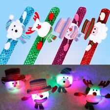 LED Slap Band Glowing Wristband Light Up Bracelet For Christmas Party Decor Gift