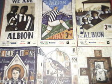 2011/12 WBA HOME PROGRAMMES CHOOSE FROM