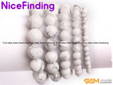 Natural White Howlite Stone Beaded Healing Balance Stretch Bracelet Jewelry Gift