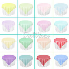10pcs Sheer Organza Overlays Table Cover Tablecloth Wedding XMAS Party Decor 72""