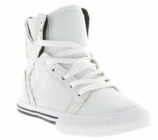 NEW SUPRA Kids Skytop Shoes Children Trainers White S40002 Leisure