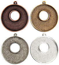 Nunn Design grande toggle circle pendant gold silver copper jewelry making