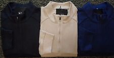 NEW MENS ADIDAS GOLF L/S 3-STRIPE 1/4 ZIP MOCK SWEATER, PICK A COLOR & SIZE, $90