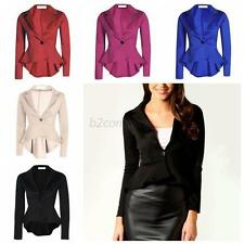 Women's Long Sleeve One Button Slim Business Blazer Suit Jacket Coat Outwear Hot