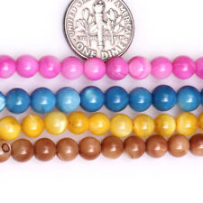 """6mm Round Shell Craft Stone Beads For Jewelry Making Necklace Bracelets 15"""" DIY"""