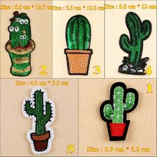 10pcs/set Cactus Embroidered Applique Iron Sew on Patches/Badges