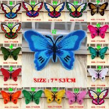 10PCS/SET Colorful Butterfly Embroidered Applique Iron Sew on Patches