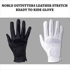 NOBLE OUTFITTTERS LEATHER STRETCH READY TO RIDE GLOVE WHITE BLACK
