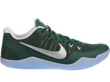 NEW MENS NIKE KOBE 11 LOW BASKETBALL SHOES TRAINERS GORGE GREEN / METALLIC SILVE