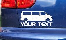 VW Transporter Van Custom Your Text Stickers Decals Volkswagen T3 T4 T5 T6 ref:2