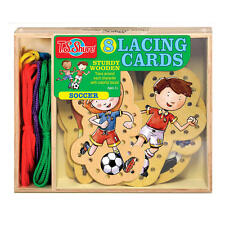 T.S. Shure Soccer Wooden Lacing Cards