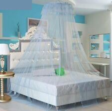5PCS Blue Mosquito Net Mesh Bed Canopy Fly Insect Protection Round Dome Lace Net
