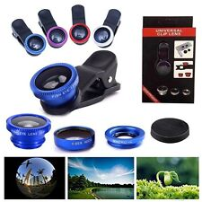 Wide Angle 180° Fish Eye Macro Clip Camera Lens Kit for iPhone Mobile Cell Phone