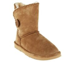 Lamo Suede Leather Faux Fur Lined Water Resistant Snowmass Winter Ankle Boots CH