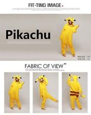 Pikachu Unisex Adult Costume Pajamas Animal Cosplay Onesie Sleepwear Good Gift #