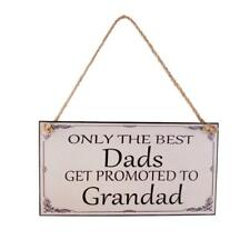 Wooden Dad Granpa Birthday Fathers Day Gift Wall Hanging Plaque Sign Home Decor