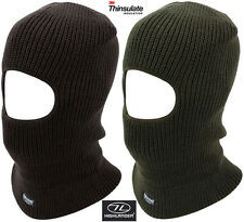 Thinsulate Army Military Mens Hat Balaclava Open Face Motorbike Hat Black Green