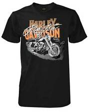 Harley-Davidson Men's Ride Free H-D Script Short Sleeve T-Shirt, Solid Black