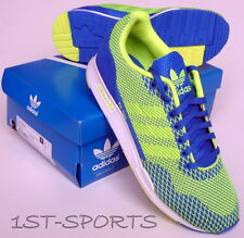 ADIDAS ORIGINALS MENS TRAINERS, SHOES, ZX 900 WEAVE UK 9 to 10 BLUE YELLOW