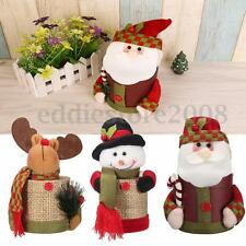 Christmas Santa Claus Snowman Elk Doll Candy Gift Box Storage Decor Container