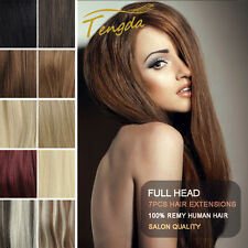 Clip in 100% Remy Human Hair Extensions Straight 7pcs/set 80g 15colors