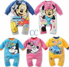 Baby Boys Girls Cartoon Cotton Bodysuit Outfit Costume Romper Clothes 0-18Month