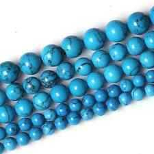Hot Lots Blue Cute Turquoise Round Stone Loose Spacer Beads Finding 4-12mm
