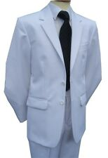 £59.95 NEW MENS WHITE TWO PIECE WEDDING SUIT DRESS SUITS 34 40 46 48 52 56 58 60