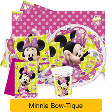 Disney MINNIE MOUSE BOW-TIQUE Birthday PARTY Range (Tableware & Decorations)