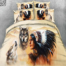New Modal Wolves Double/Queen/King Size Quilt/Duvet/Doona Cover Set Indian A2661