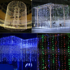 96-960 LED Light Curtain String Fairy Lights Wedding Indoor Outdoor Party  Decor
